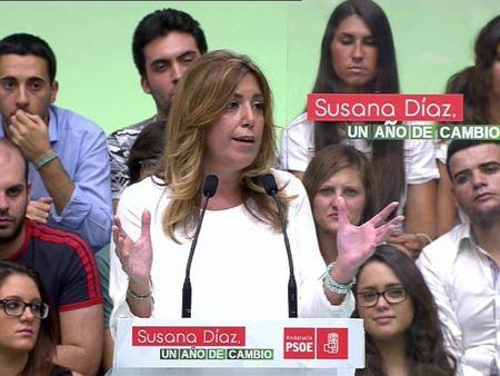 """Susana Díaz: """"Soy roja y soy decente, y no voy a permitir que se manche el nombre del PSOE"""""""