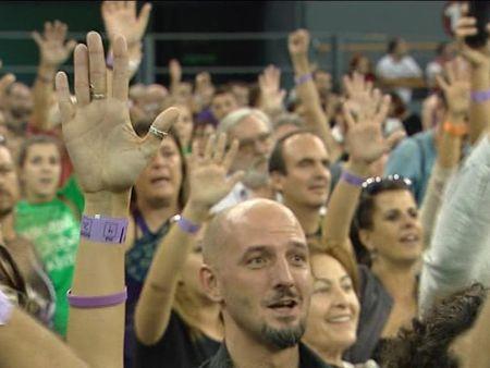 Demostración de fuerza de Podemos en el cierre de su Asamblea Ciudadana