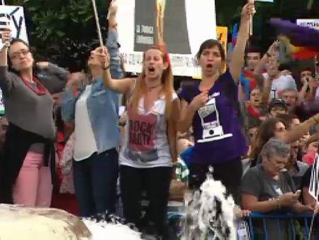 Protesta de las marchas de la dignidad contra el Gobierno y la Familia Real en Oviedo